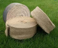 Межвенцовый утеплитель для деревянного дома в ленте джут/лен шир.20 см длина 25 м упаковка 1000 м, фото 1