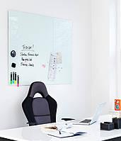 Доска стеклянная 2x3 магнитная маркерная 90 х 120 см Белая
