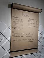 Доска меню для кофейни- бумага рулонная для надписей Melmark 86 см Корпус-синий, бумага-крафт 100 м