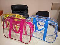 ПВХ сумка в роддом на молнии - Средняя  L 40*25*30 Разные цвета