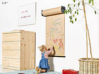 Бумага для рисования в рулоне с креплением на стену  Melmark 86см. Корпус-салатовый, бумага-крафт 100м., фото 1