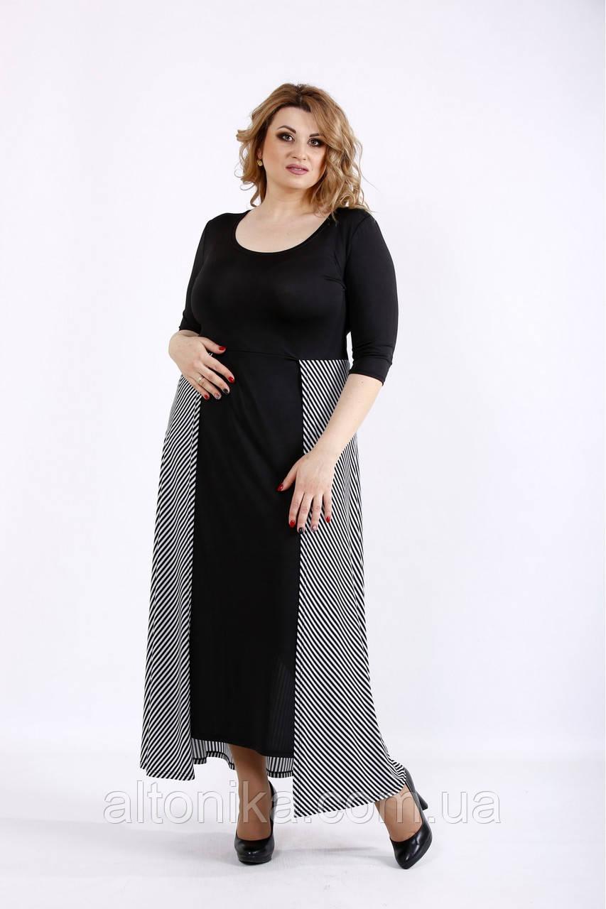 Женское длинное оригинальное платье | 42-74