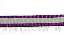 Лента светоотражающая 10мм на тканевой основе, фиолетовая (50м)