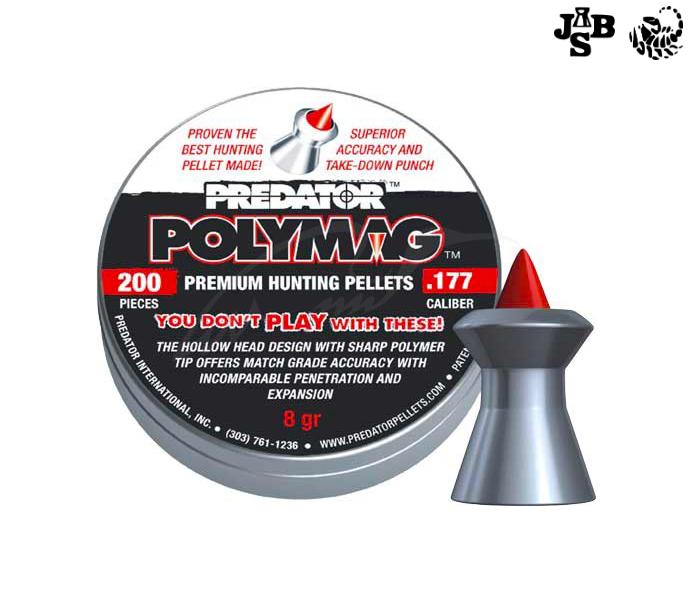 Пули пневматические JSB Diabolo Polymag 4.5мм 0.52г 200шт