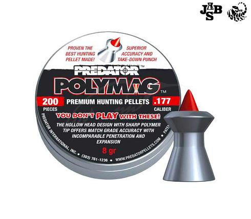 Пули пневматические JSB Diabolo Polymag 4.5мм 0.52г 200шт, фото 2