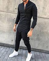 Мужская Стильная черная Рубашка