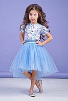 Комплект  с юбкой нарядный для девочки 64-9004-2