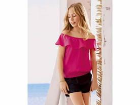 Блуза с воланами розовая Pepperts р.122