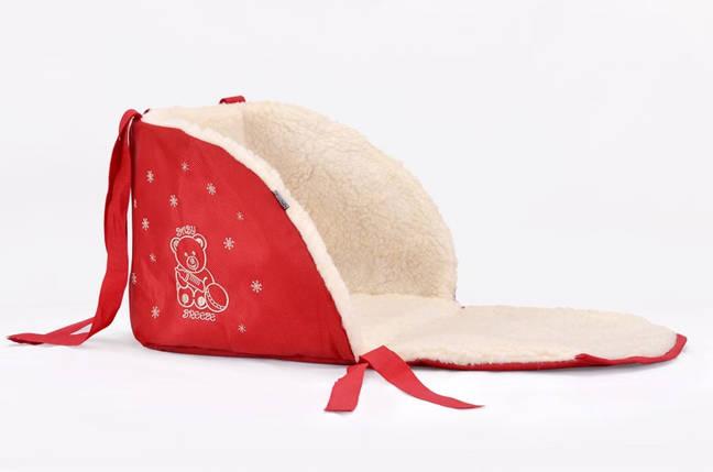 Матрасик для санок Baby Breeze 0301 (красный), фото 2