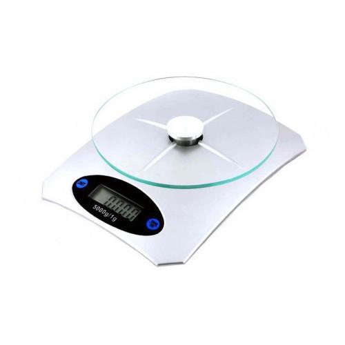 Весы кухонные ACS KE5 (5кг/1г) электронные весы для кухни белые с платформой