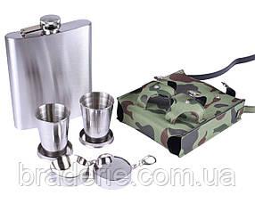 Подарункова фляга в сумці зі склянками PT-18D 530 мл
