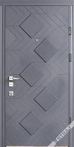 Двери Андора 3D антрацит Стандарт + «СТРАЖ» (Украина)