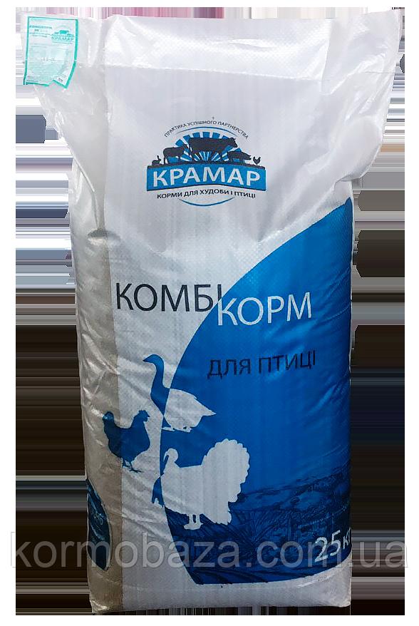 Комбікорм Крамар для курчат курей зростання ПК 3-4 (c 9 по 17 тиждень)