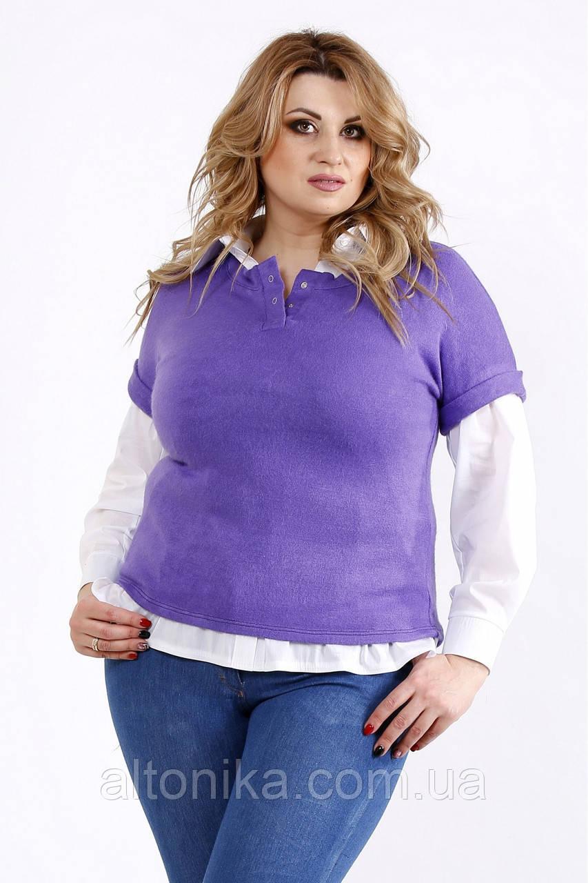 Женская блузка из ангоры (на рубашке 01115-1 - отдельно)     42-74