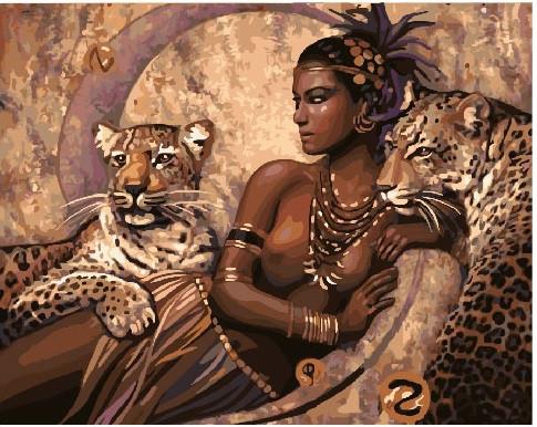 Картина по номерам Повелительница царства зверей, 40x50 см., Brushme