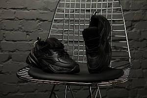 Мужские кроссовки Nike M2K Tekno Full Black \ Найк М2К Черные \ Чоловічі кросівки Найк М2К Чорні