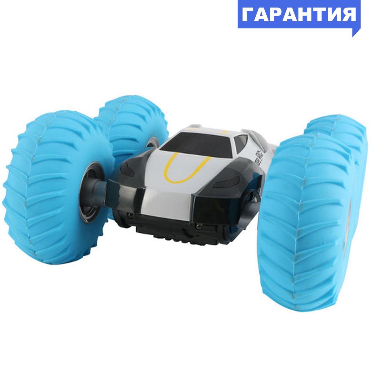 Перевёртыш на р/у YinRun Speed Cyclone с надувными колесами (на бат., серый)