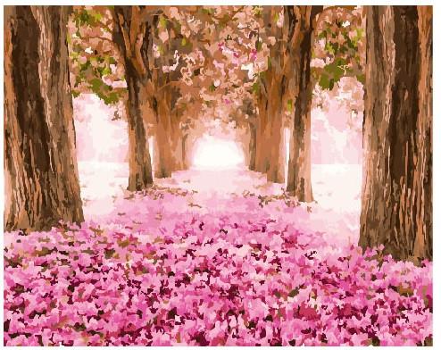 Картина по номерам Загадочный лес в цветах, 40x50 см., Brushme