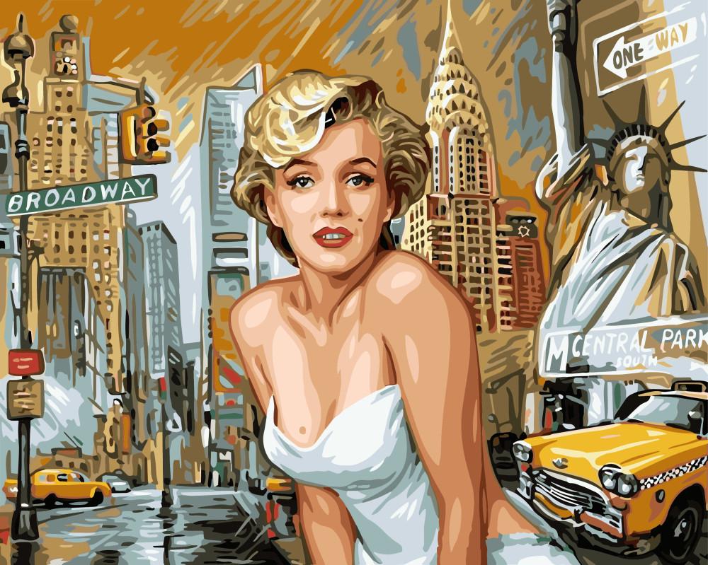 Картина по номерам Монро в Нью Йорке, 40x50 см., Brushme
