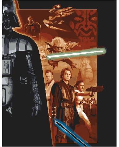 Картина по номерам Звёздные войны 2, 40x50 см., Brushme
