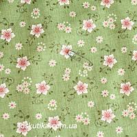 24035 Остролистник. Ткань в цветочек. Ткани для пэчворка, для квилтинга и шитья.