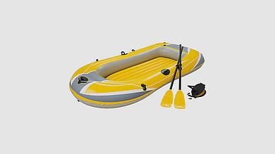 Надувная лодка BESTWAY Hydro-Force Raft. В комплекте 2 весла и насос