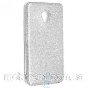 Чехол силиконовый Shine Meizu M5 серебристый