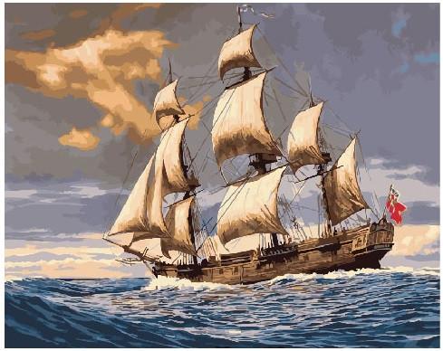 Картина по номерам Английский флот, 40x50 см., Brushme
