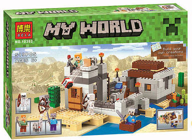 """Конструктор Bela 10392 Minecraft """"Пустынная станция"""", 519 деталей"""