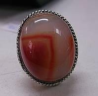 Крупный перстень с агатом, размер 19,3
