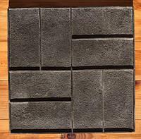 """Резиновый штамп """"Паркет"""" для печати по бетону 420*420 мм"""