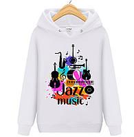 Толстовка JAZZ MUSIC детская белая