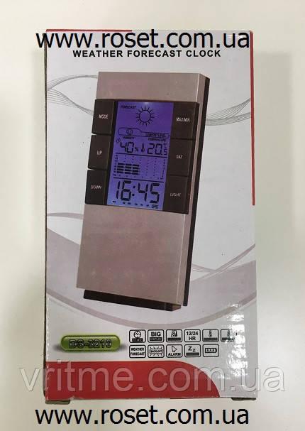 Настольные часы с метеостанцией DS 3210 (с гигрометром и  термометром)
