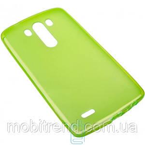 Чехол силиконовый цветной LG G3 зеленый