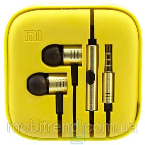 Наушники с микрофоном Xiaomi Huosai Piston V2 желтые