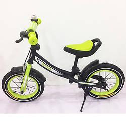 Беговел (велобег) Tilly Balance Matrix на надувных колесах, T-21259 Green