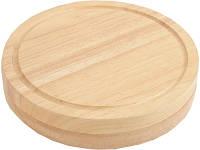 Набор ножей для сыра в деревянном футляре, который можно использовать как разделочную доску (827618_OS)