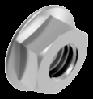 Гайка М10х1.25 с фланцем шестигранная метрическая с мелким шагом резьбы, сталь, кл. пр. 8, ЦБ (DIN 6923)
