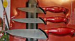 Набор кухонных швейцарских ножей S. Zurich с магнитной рейкой., фото 2