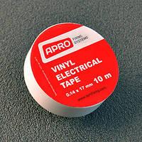 Изолента Apro (белая) 0,14мм*17мм*10м
