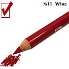 Карандаш Косметический с Точилкой Матовый Цвет Красного Вина Wine для Губ Тон 11 Упаковкой 12 штук., фото 5