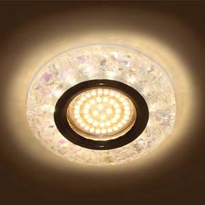Светильник встраиваемый с LED подсветкой Feron 8585-2  белый под лампу Mr16, фото 2
