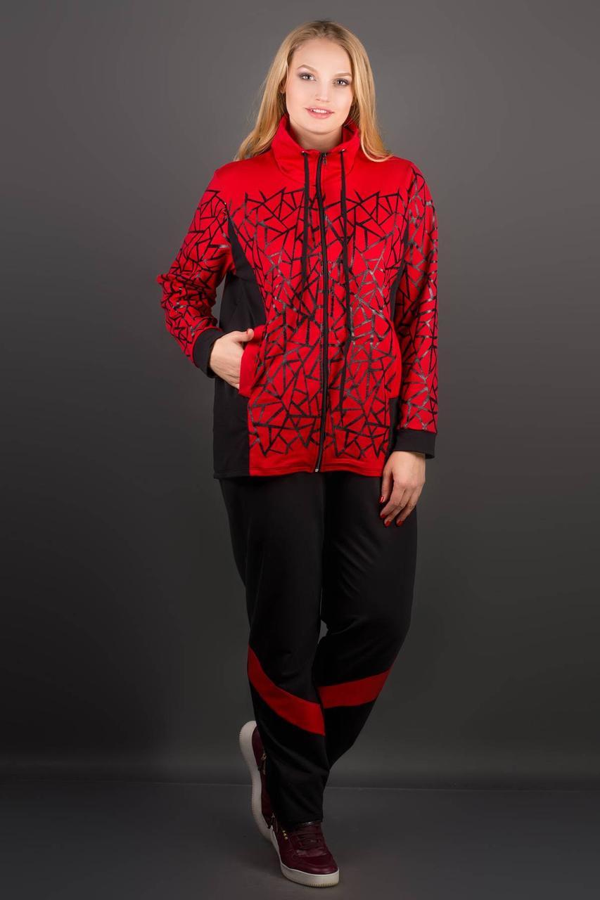 Женский спортивный костюм прямого покроя Айден цвет красный размер 58,60