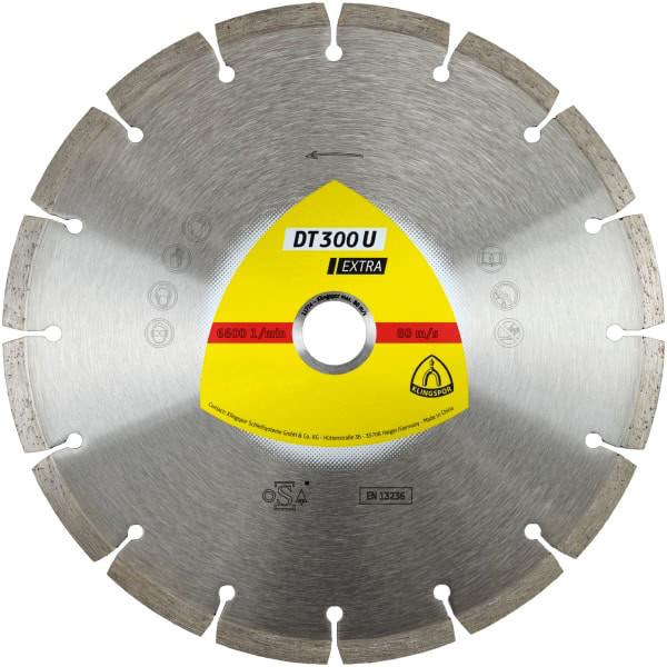 Диск алмазний Klingspor Extra DT300U 125x22.2 мм