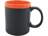Кружка на 320 мл с покрытием для рисования мелом (мелки в комплект не входят), шт.,  оранжевый (879858_OS)