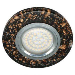 Светильник встраиваемый с LED подсветкой Feron 8585-2 чёрный под лампу Mr16, фото 2