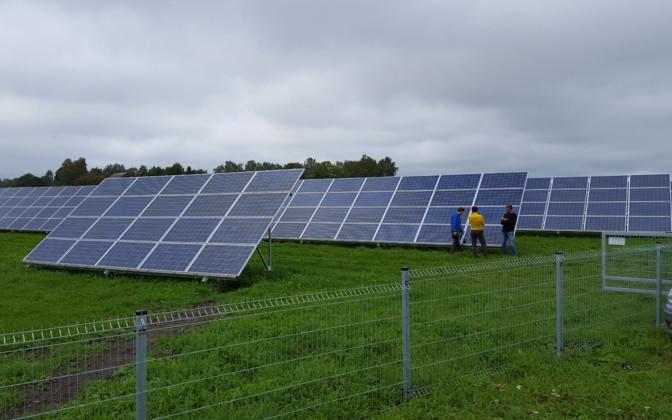 Наземная система креплений 20 панелей/5 кВт, 4 рядная на одной стойке