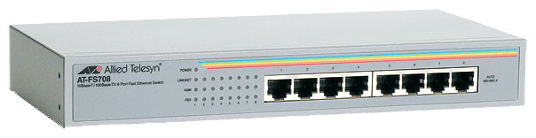 Коммутатор неуправляемый Allied Telesis AT-FS708, бу