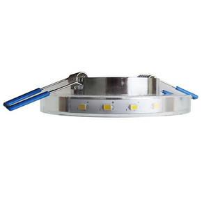 Светильник встраиваемый с LED подсветкой Feron 8686-2  серебро под лампу Mr16, фото 2