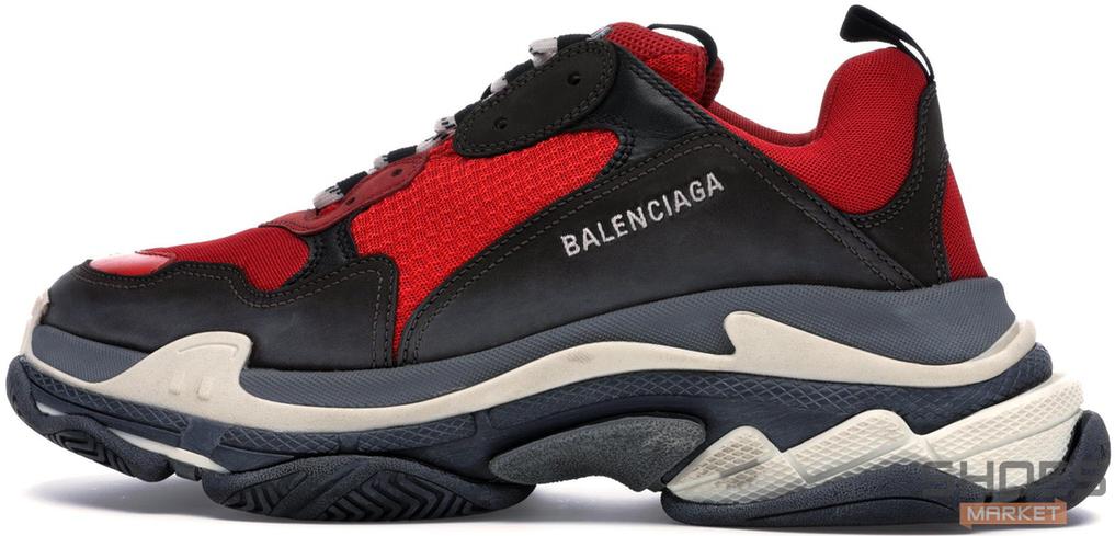 Женские кроссовки Balenciaga Triple S Red 516440-W09O7-6576